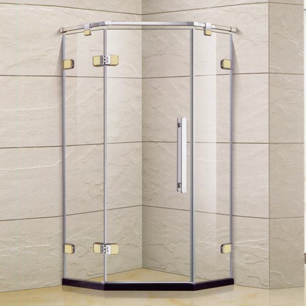 Polished Framed Diamond Shaped Shower Enclosure-LX-1329