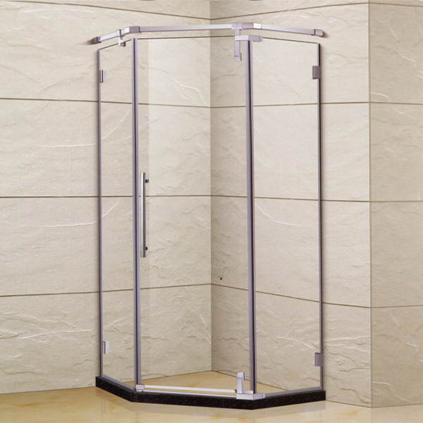 Diamond Shaped Shower Enclosure With Frame-LX-1338