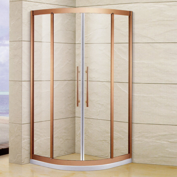 Golden Sector Shaped Shower Enclosure-LX-1352