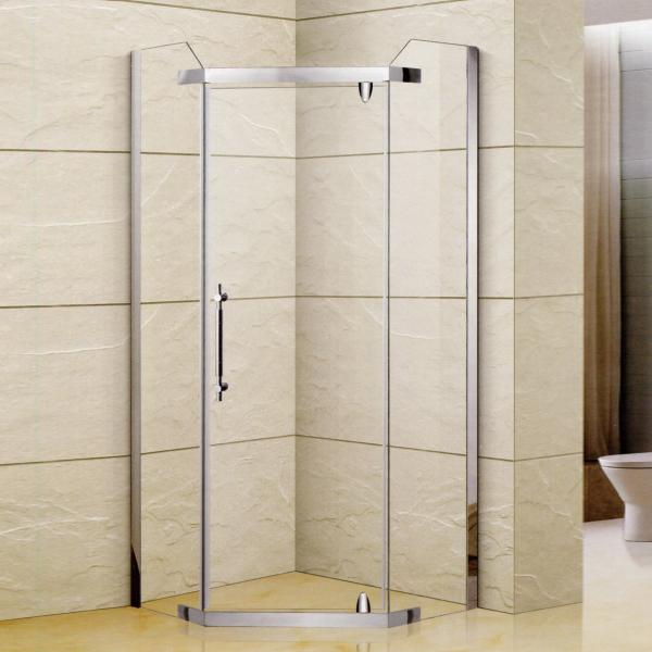 Stainless Steel Framed  Diamond Shaped Shower Enclosure-LX-1362