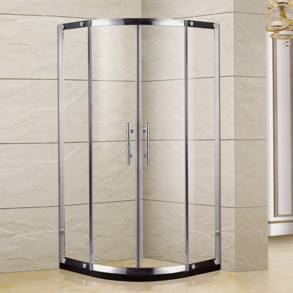 Light Silver Stainless Steel Framed Shower Enclosure-LX-1365