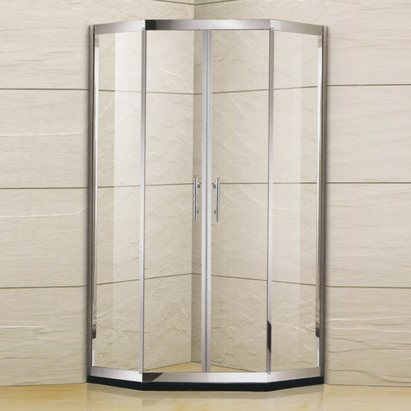 Diamond Shaped Hinge Shower Enclosure-LX-1367