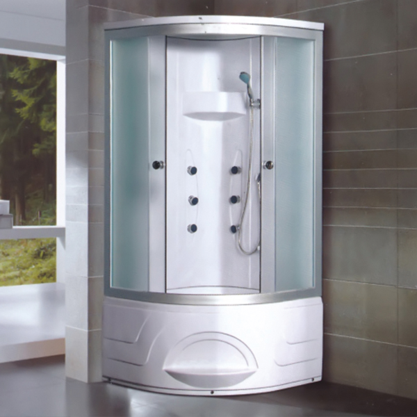 Round Handle Fabric Glass Shower Room-LX-2002