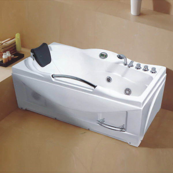 Sector Shaped Massage Masssage Bathtub With Armrest-LX-221