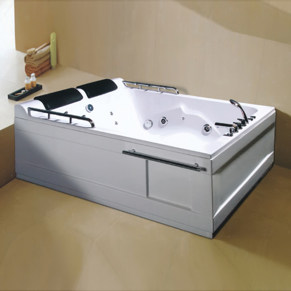 ABS Material Massage Bathtub With Sprinkler Handrail-LX-227