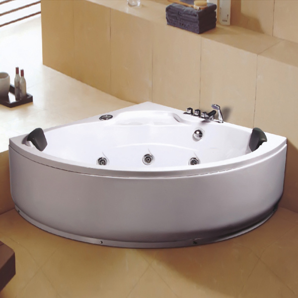 ABS Material Massage Bathtub With Sprinkler Handrail-LX-228
