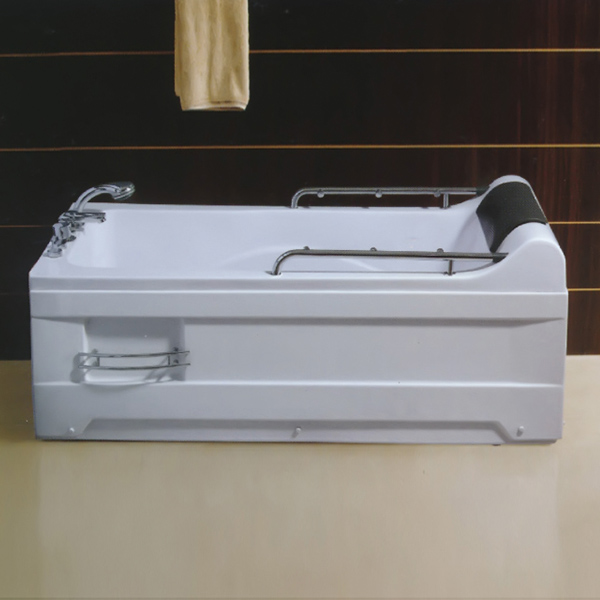 Acrylic Material Massage Bathtub With Sprinkler Handrail-LX-233