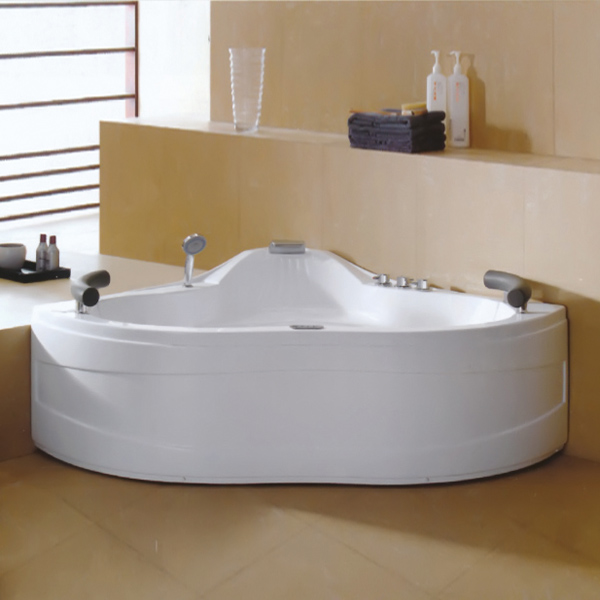 Computer panel Controlled Pure Acrylic Massage Bathtub-LX-237