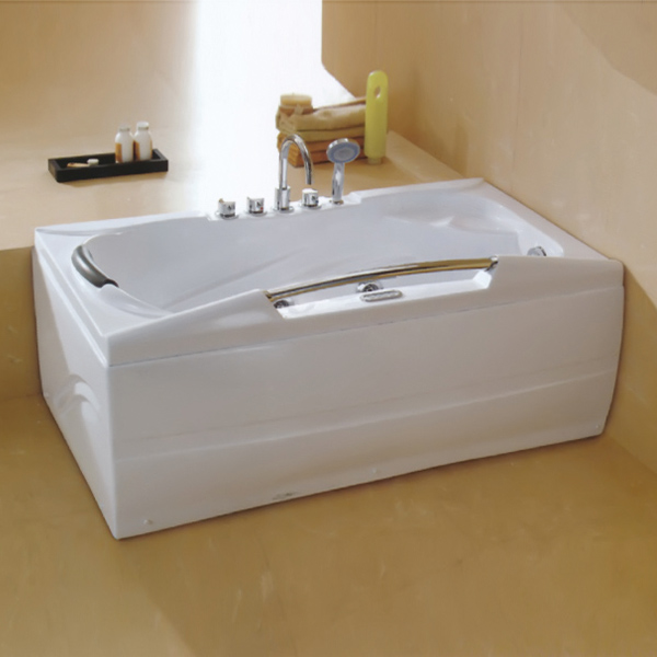2 Wall Aclove White Massage Bathtub-LX-238