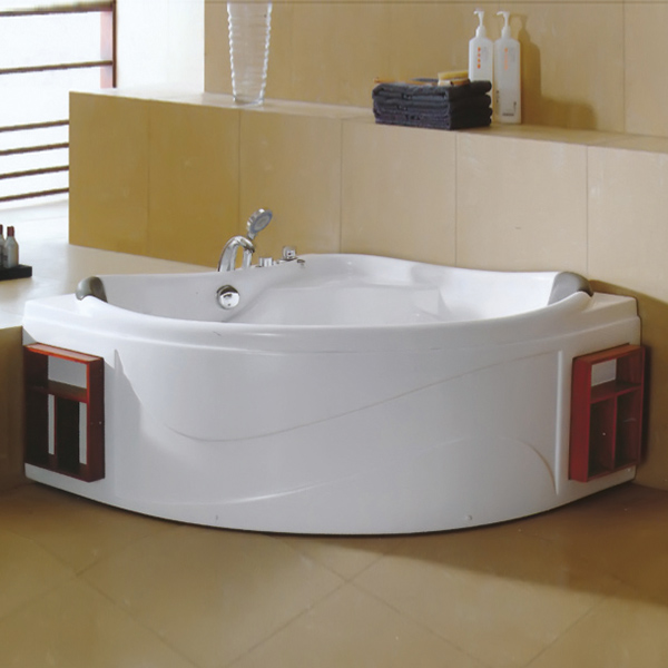 Acrylic Massage Bathtub With Red Shelf-LX-239
