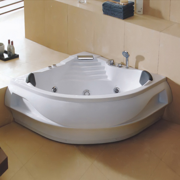 Corner Whirpool Massage Bathtub-LX-240