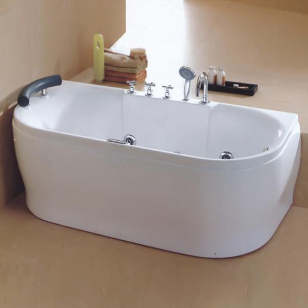 Oval Shaped Whirpool Massage Bathtub-LX-243