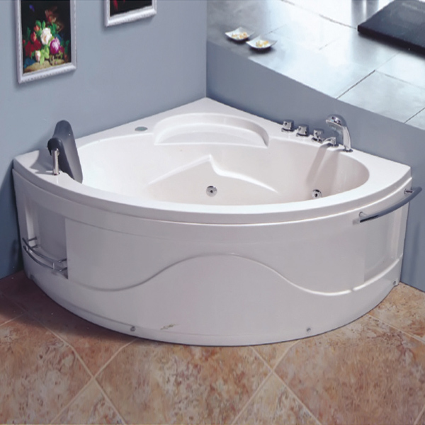 ABS Material Massage Bathtub With Towel Rack-LX-245