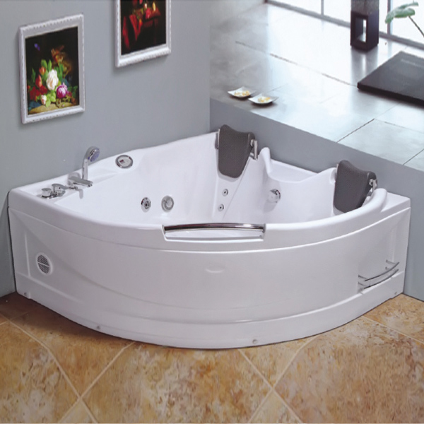 2 Person Sector Shaped Whirpool Massage Bathtub-LX-248
