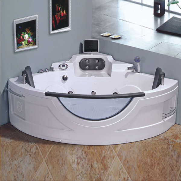 Sector Shaped ABS Massage Bathutub With TV-LX-250