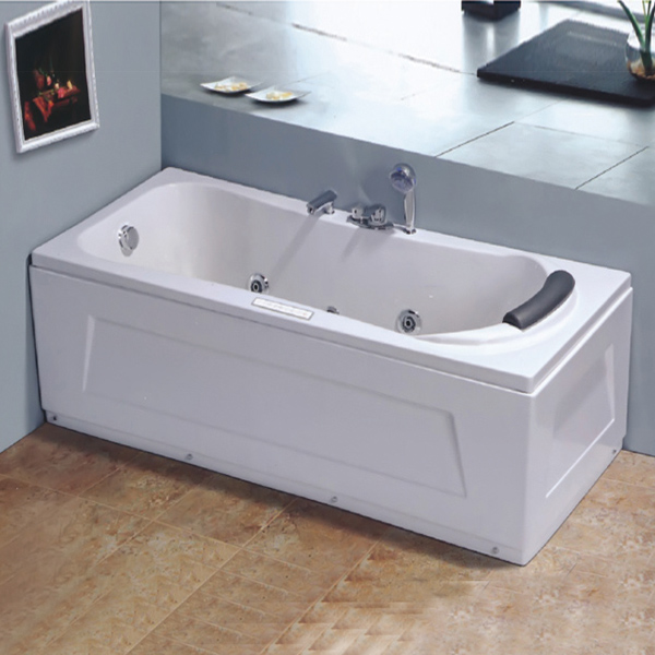 Big Size 2 Wall Aclove ABS Material Massage Bathtub-LX-255