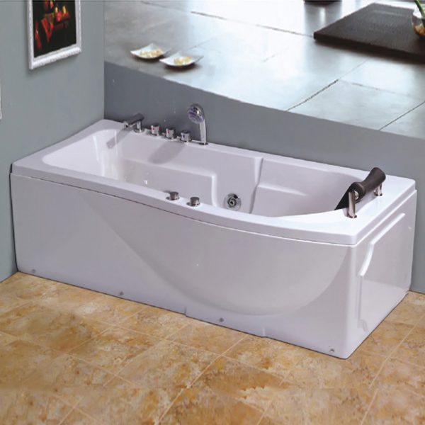 Square Massage Bathtub With Water-Cycling System-LX-257
