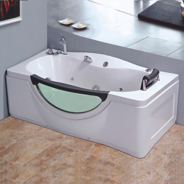 1 Person White Acrylic Massage Bathtub-LX-264