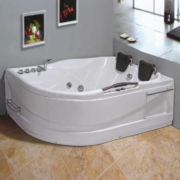 ABS Mwterial Massage Bathtub With Towel Rack And Shelf-LX-266