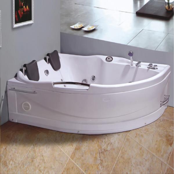 D Shaped 2 Person Massage Bathtub-LX-267