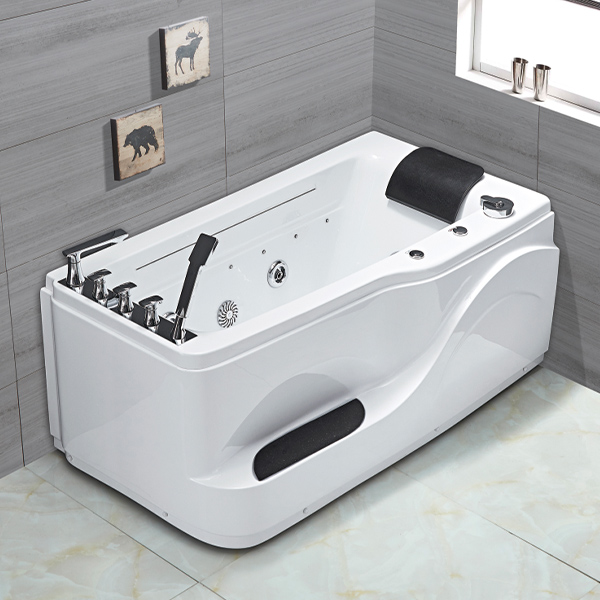Acrylic Square Massage Bathtub With Pedals-LX-271