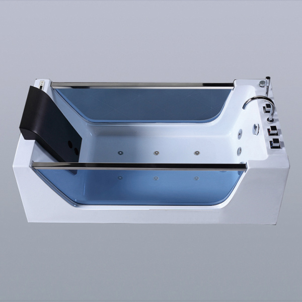 5 Set Of Faucet White Massage Bathtub-LX-279