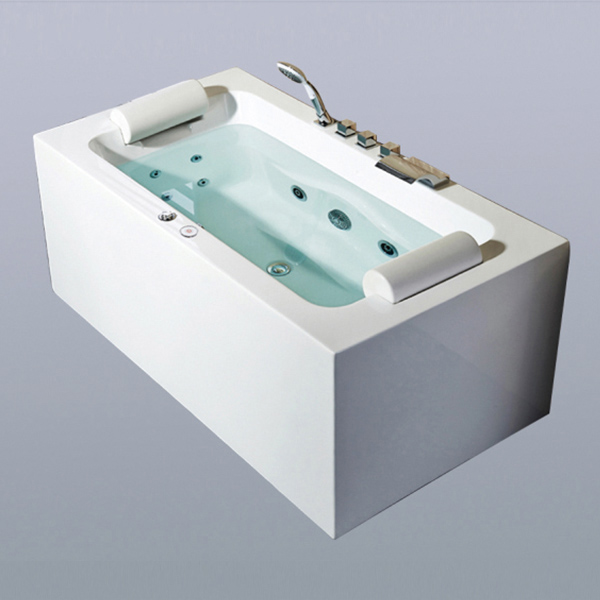 White Acrylic Massage Bathtub-LX-281