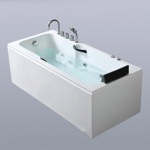Acrylic Massage Bathtub With Curved Glass-LX-286