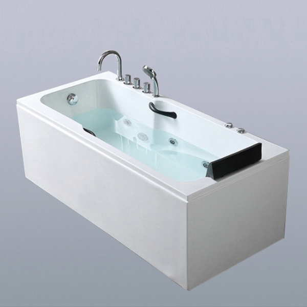 Rectangle Shaped High Quality Acrylic Massage Bathtub-LX-287