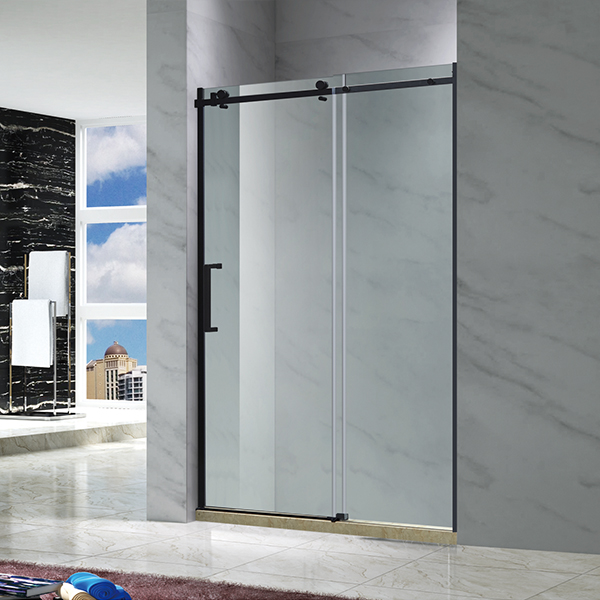Black Sliding Shower Screen-LX-3110