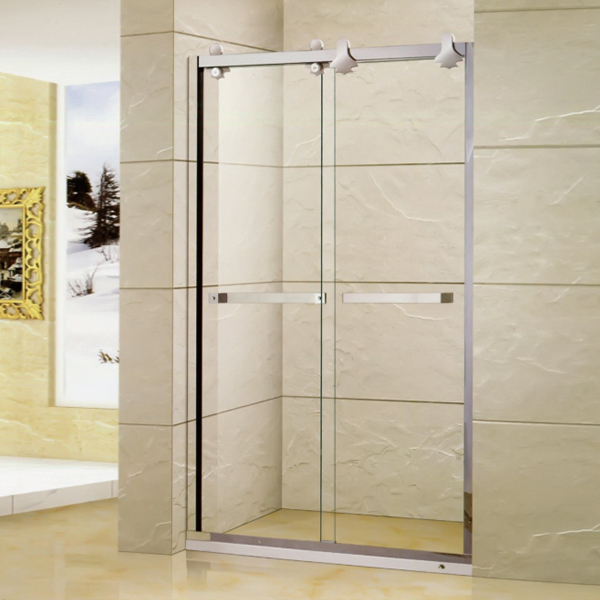 Light Silver Stainless Steel Shower Screen-LX-3118