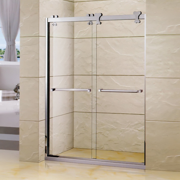 Polished Stainless Steel Shower Screen-LX-3119
