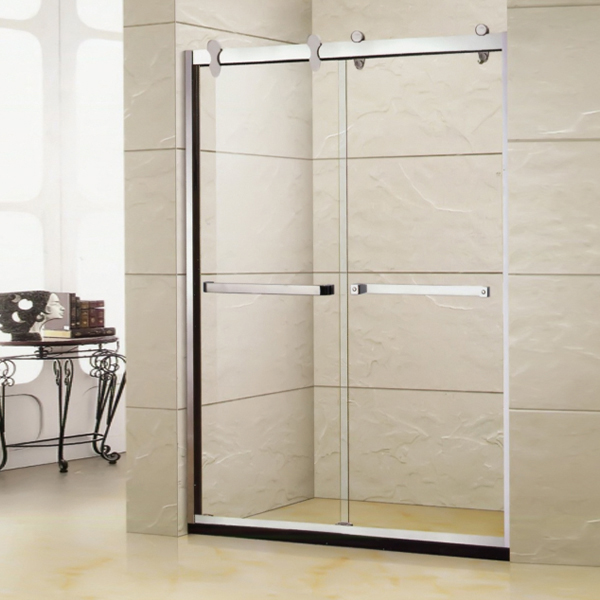 Light Silver Framed Shower Screen-LX-3122