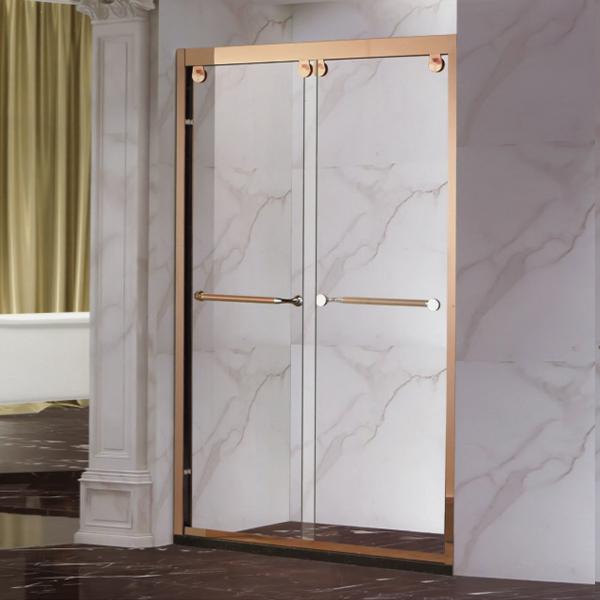 Rose Gold Sliding Shower Door-LX-3126