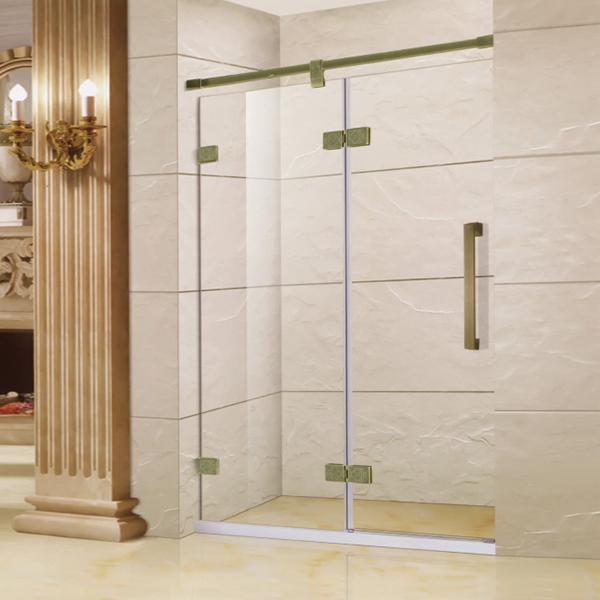 Bronze Hinge Shower Door-LX-3128