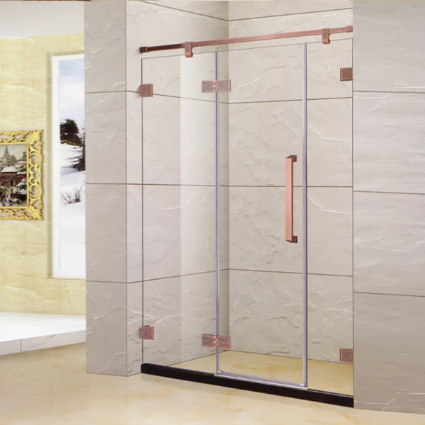 Rose Gold Hinge Shower Door-LX-3129