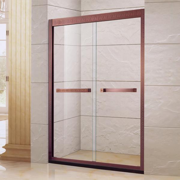 Bronze Sliding Shower Door-LX-3130