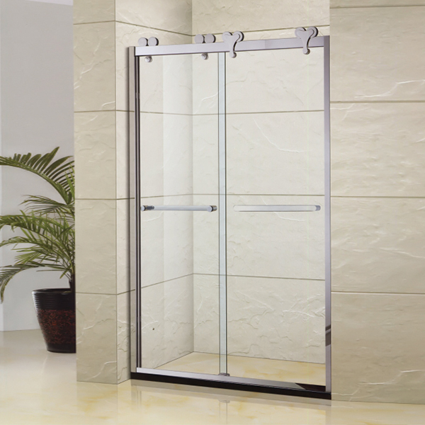Stainless Steel Handle Sliding Shower Screen-LX-3139