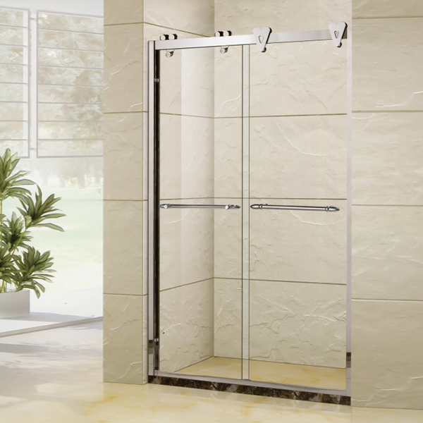 Stainless Steel Handle Sliding Shower Door-LX-3150