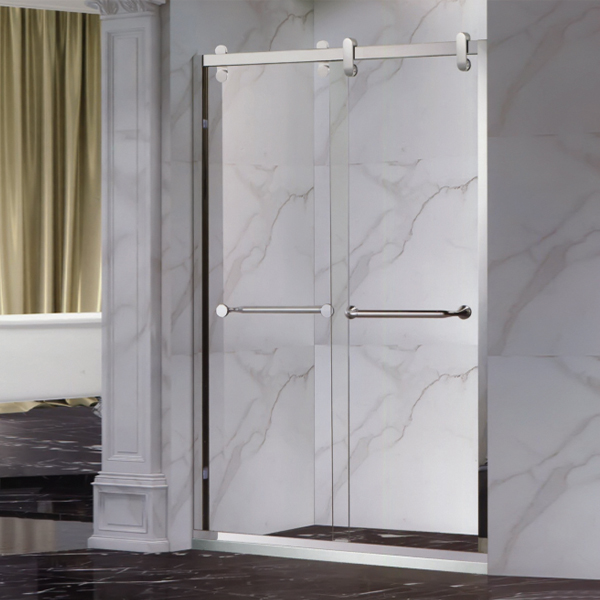 Stainless Steel Framed Shower Door-LX-3151