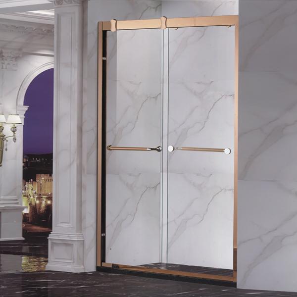 Golden Stainless Steel Shower Door-LX-3153