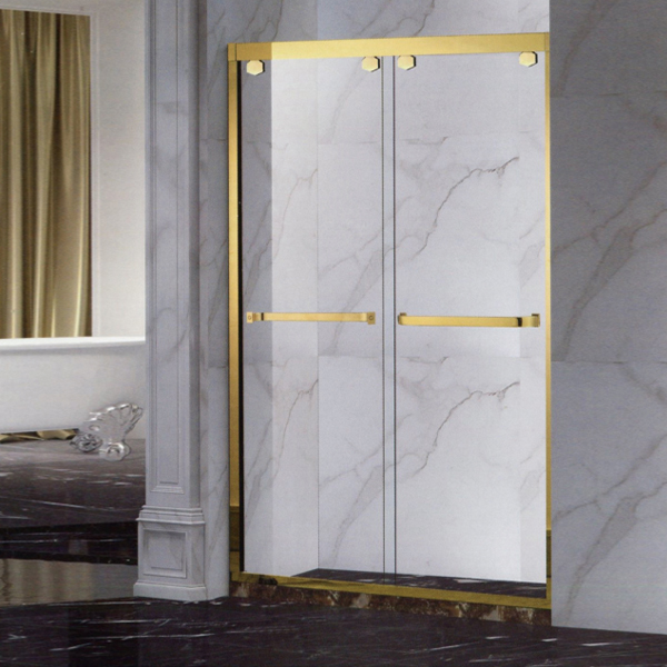 Gold Stainless Steel Shower Screen-LX-3162