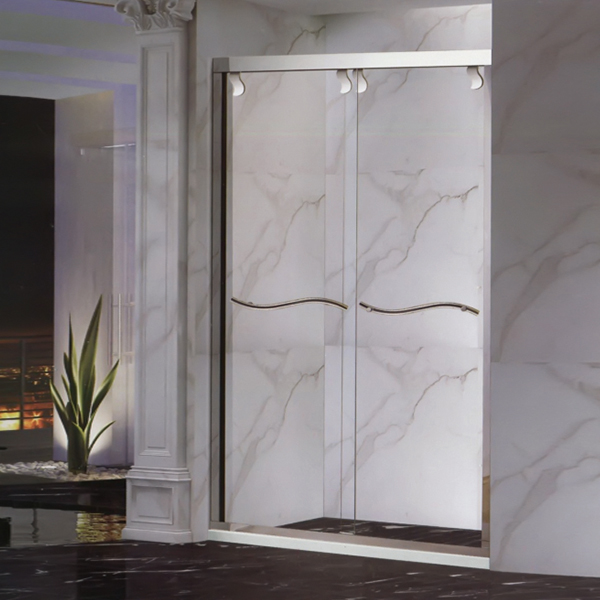 Wavy Handle Shower Screen-LX-3165