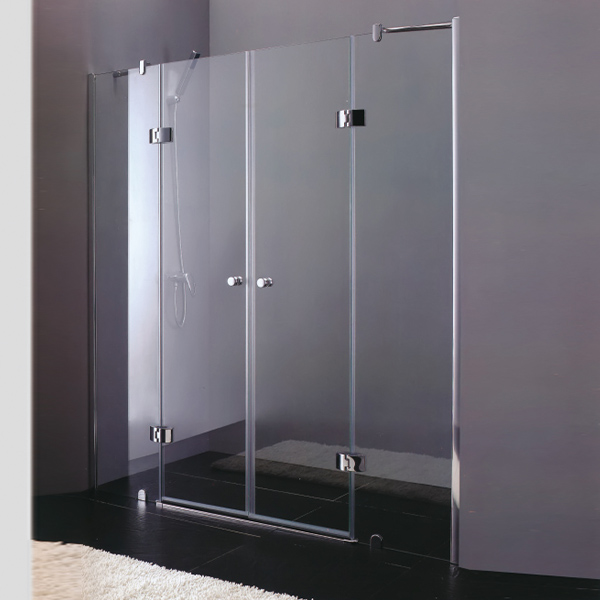 Double Door Frameless Shower Door-LX-3172