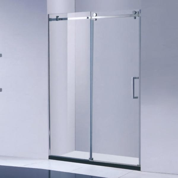 Vertical Handle Frameless Shower Screen-LX-3175