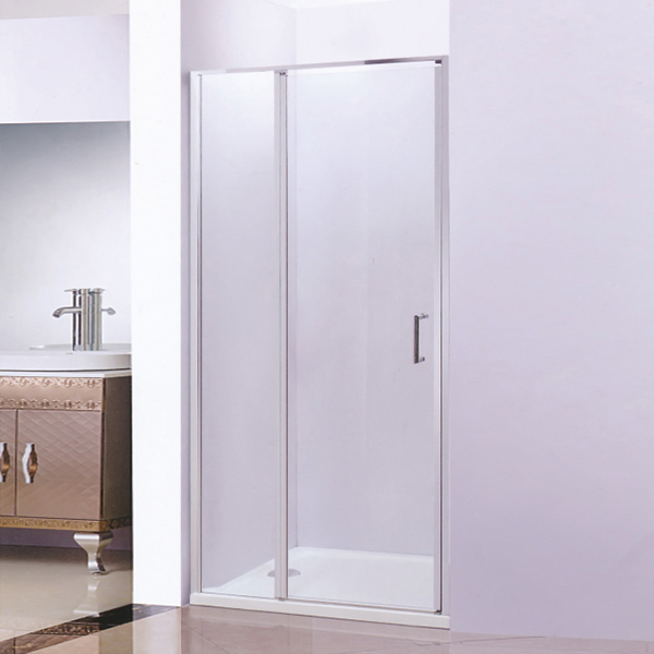 Push-Pull Shower Screen With ABS Tray-LX-3181