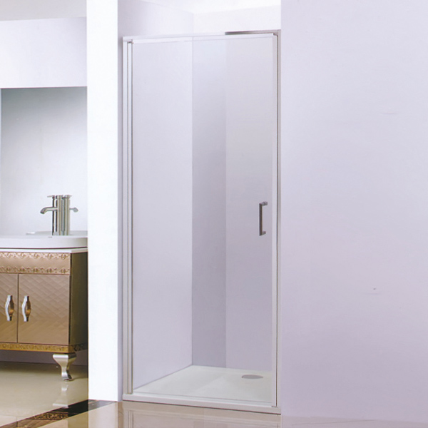 1 Shaped Hinged Shower Screen-LX-3183