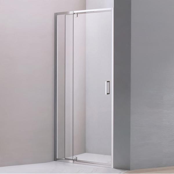 Light Silver Stainless Steel Framed Shower Door-LX-3190