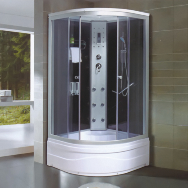 Shower Cabin With Soap Container And Apollo Back Spray-LX-5016