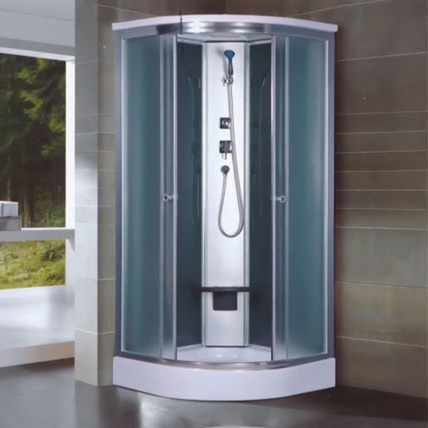 Frosted Tempered Glass Shower Room With Seat Cushion-LX-5036
